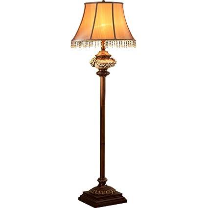 JUNBON Lámpara de pie Sofá Vintage Tallado Lámpara de pie ...