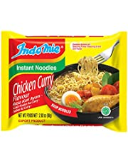 Indomie Instant Noodles Soup Chicken Curry Flavor, 30 Packages × 80 Gram