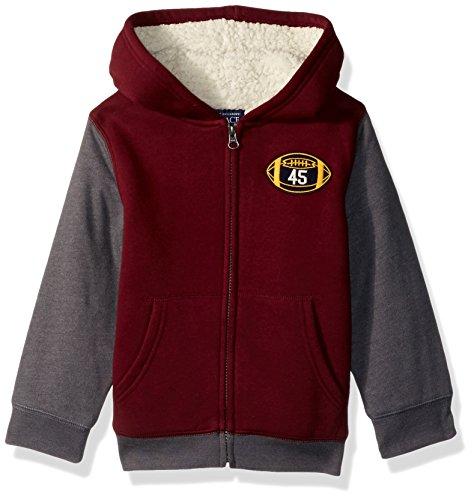 Redwood Apparel (The Children's Place Baby Boys' Fleece Hoody, Redwood 83113, 2T)