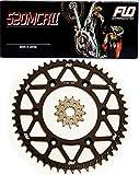 Flo Motorsports Gold Chain & Sprocket Combo Kit KAWASAKI KX450F FRONT SPROCKET 13T / REAR SPROCKET 48, 50, 51, 52, or 53 TOOTH (50T, Black)