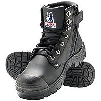 Steel Blue 'Argyle' 332152 Black Work Boots. Steel Cap Safety. Zip Side Bump Cap.