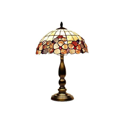 WYMI Lámpara De Mesa Estilo Tiffany De 12 Pulgadas Petal En Forma ...