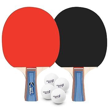 Walmeck- Tenis de Mesa Juego de 2 Jugadores 2 Raquetas de Palos de ...