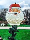 TisYourSeason Santa Head Christmas Outdoor Light