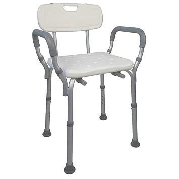 sedia o seduta per vasca da bagno con schienale e braccioli altezza regolabile