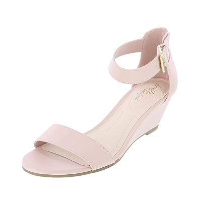 4835b7ea6cb dexflex Comfort Blush Women s Paige Wedge Sandal 5.5 Regular