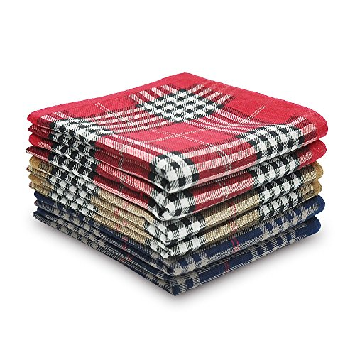 Selected Hanky 100% Cotton Men's Handkerchiefs 6 Piece Gift Set