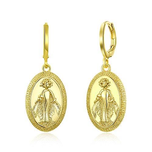 Garilina Cute jewelry Greek mythology Greek goddess gold earrings Women's Drop Shipping Wholesale E2245
