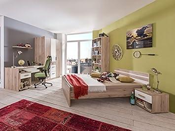 Exceptional Jugendzimmer Cariba Komplett Verschiedene Ausführungen Kinderzimmer Möbel  (Jugendzimmer Cariba 7tlg, Eiche San Remo)