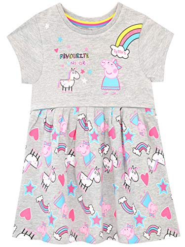 Peppa Pig Girls' Unicorns & Rainbows Dress Multicolored Size 3T ()