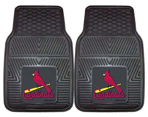 Heavy Duty Vinyl Car Mats - Set of 2 - St Louis Cardinals by Fanmats