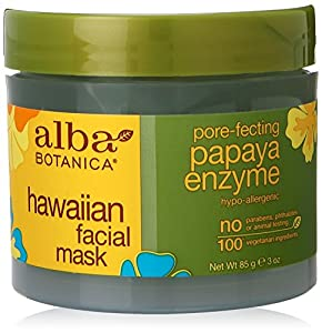 Alba Botanica Papaya Enzyme Facial Mask, 3 Ounce Jar