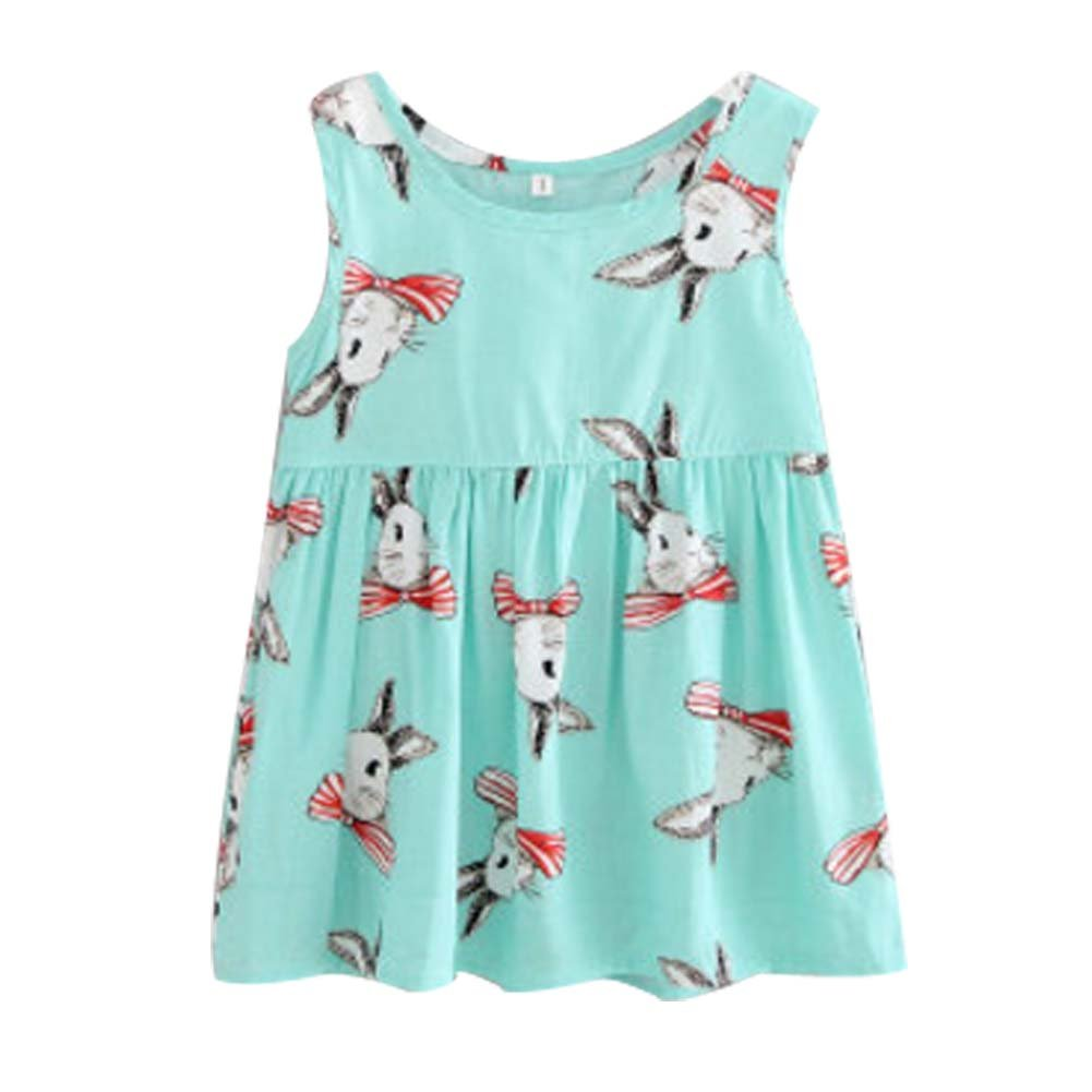 Koala Superstore [G] Kids' Pajama Home Nightdress Sleeveless Cotton Dress Vest Skirt for Girls by Koala Superstore (Image #1)