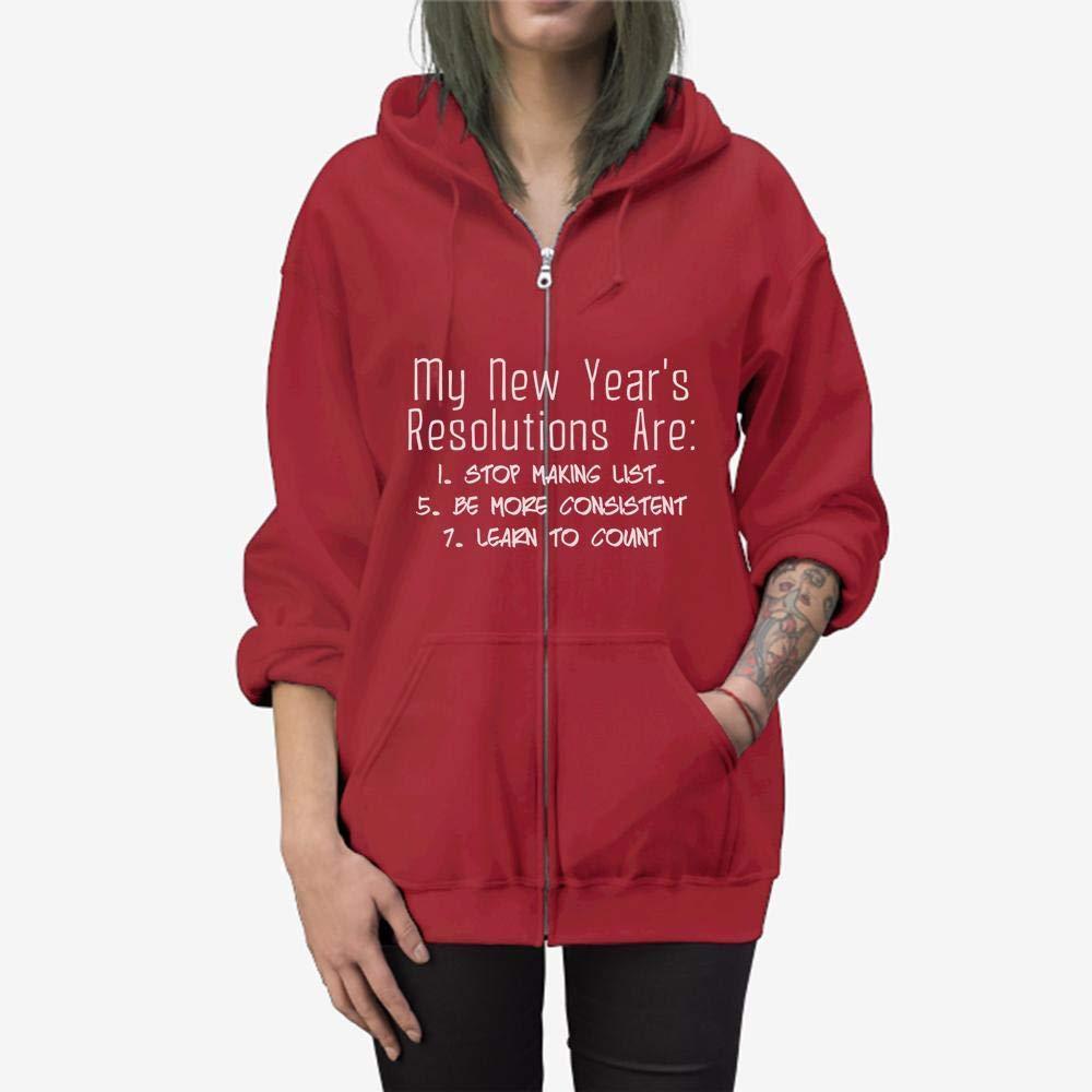 Funny Gift Birthday Awesome Tee My New Year/_s Resolutions Zip Hooded Sweatshirt