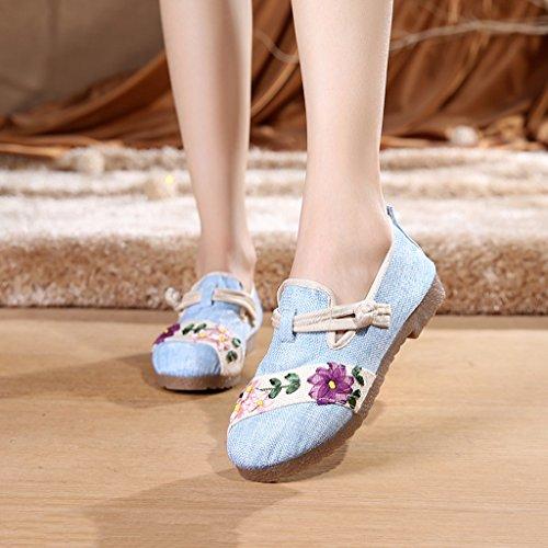 de Fondo Zapatos tela altura custom mujer lona caminar zapatos de Beijing individuales para zapatos C deportivos antideslizantes de Old suave Zapatos folk bordados Aumento Zapatos de Zapatos Zapatos drWgvnW