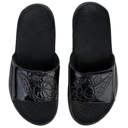 (Jordan Men's Hydro 7 Slide Sandals Black/Black 10 )