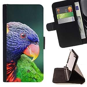 - parrot parolee tropical exotic bird - - Prima caja de la PU billetera de cuero con ranuras para tarjetas, efectivo desmontable correa para l Funny HouseFOR Samsung Galaxy S3 Mini I8190Samsung Galaxy S3 Mini I8190