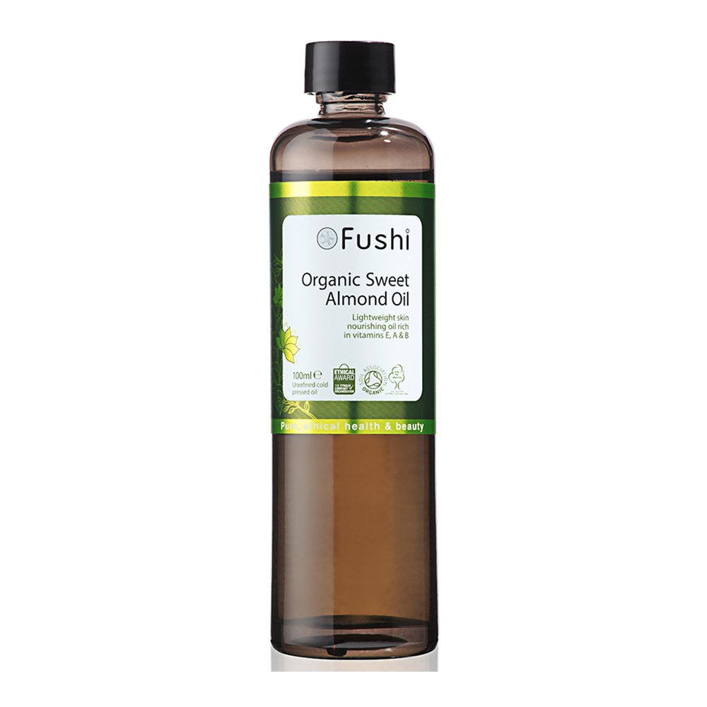 Fushi Sweet Golden Almond Organic Oil 100ml Extra Virgin, Biodynamic Harvested Cold Pressed by Fushi Wellbeing