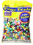 Darice Pony Beads (Assorted) - Pack of 1000