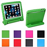 Aken Multi Function Child / Shock Proof Kids Cover Case with Stand / Handle for Apple iPad 2nd / 3rd / 4th Generation Tablet (iPad 2/3/4) (green)