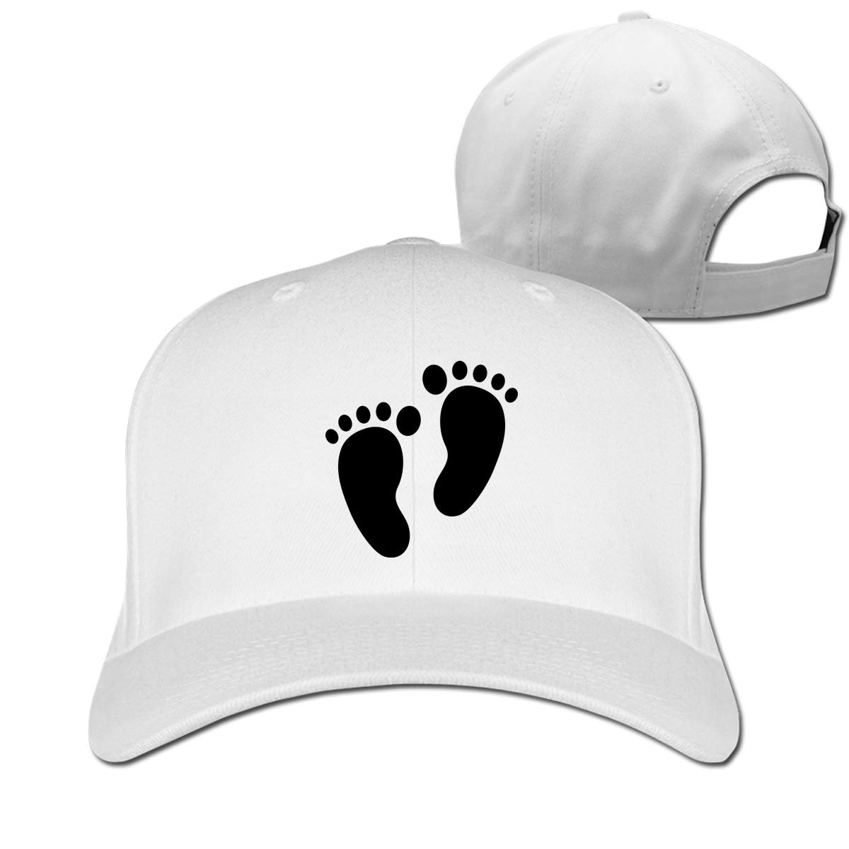 Black Footstep Classic Adjustable Cotton Baseball Caps Trucker Driver Hat Outdoor Cap Fitted Hats Dad Hat Black