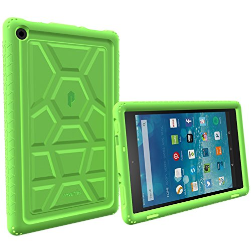 Fire HD 8 (Old 2015 Model Only) Case, Poetic [Turtle Skin Series][Corner Protection][Sound-Amplification] Protective Silicone Case for Amazon Fire HD 8 (2015 Old Model)(NOT FIT 2016 New Model) Green