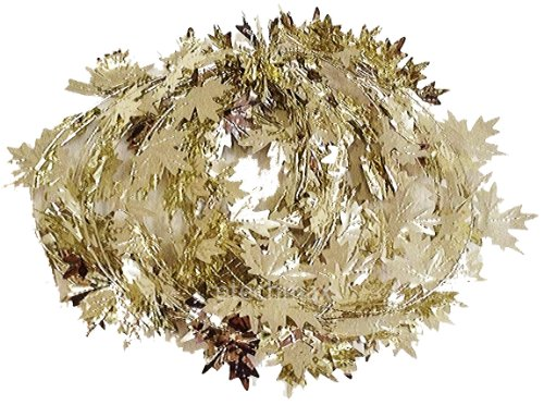 Fall Harvest Wire Leaf Garland 25ft Long (Silver - Wire Leaf