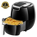 AUKUYEE Air Fryer, Oilless Cooker with Touch Screen Control, Dishwasher Safe, XL 5.6QT / 1800W for Fast, Healthy & Oil-Free Cooking, Recipes (Black) Review