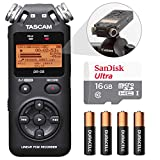 Tascam DR-05 (Version 2) Portable Handheld Digital Audio Recorder (Black) with Basic accessory bundle