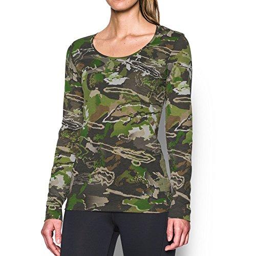 Under Armour Women's Early Season Long Sleeve T-Shirt,Ridge Reaper Camo Fo (943)/Metallic Beige, ()