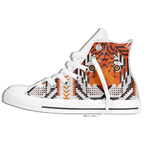 Zapatillas De Deporte Classic Tiger High Top Zapatillas De Moda Blanco