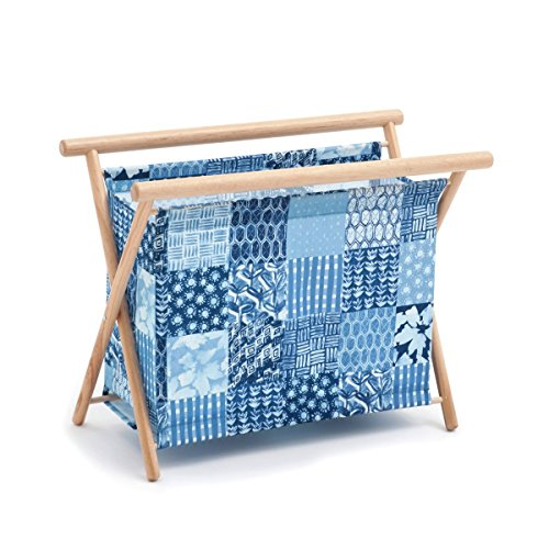Hobby Gift 'Patchwork Denim' Large Sewing Basket 23 x 48.5 x 35.5cm (d/w/h)