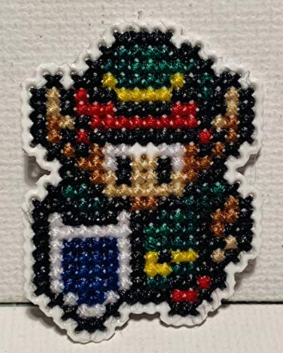Link Cross Stitched Magnet