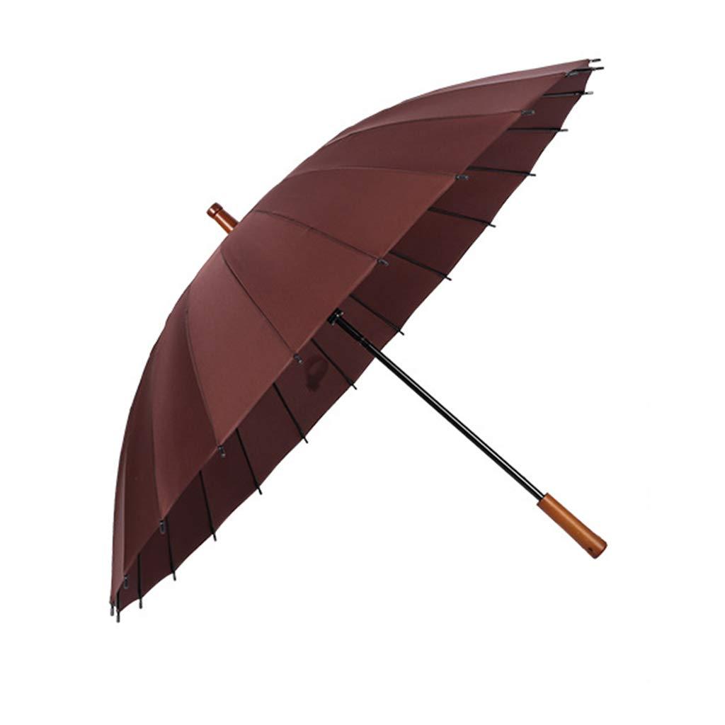 Umbrella Zi yue ju Automatically Opened Solid Wood Handle Extra Large Windproof Rainproof Sunscreen UV Protection Straight