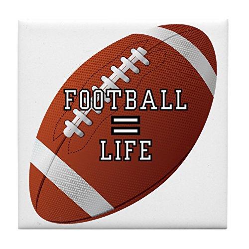 Tile Coaster (Set 4) Football Equals Life