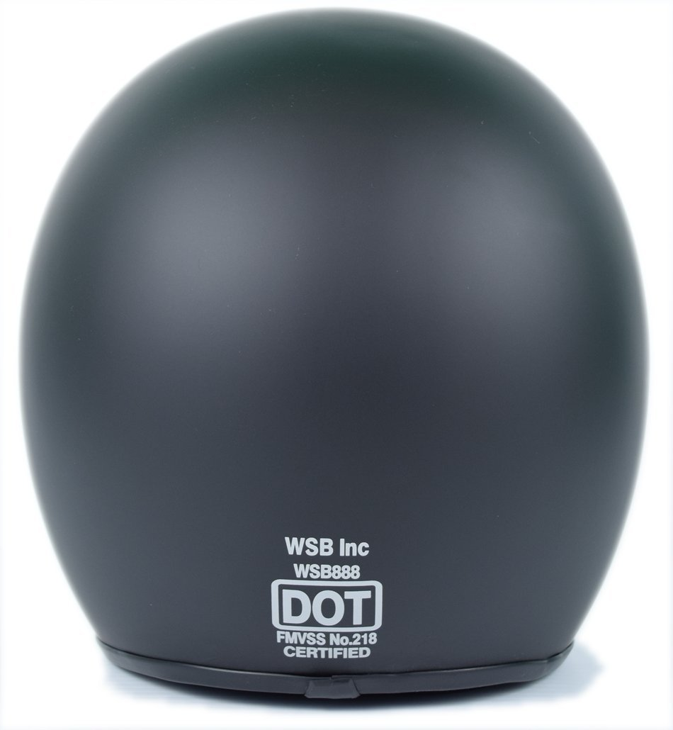 Flat Black Sick Lid 3//4 Retro Style/Motorcycle Helmet -/DOT Approved Crazy Als 2X-Small