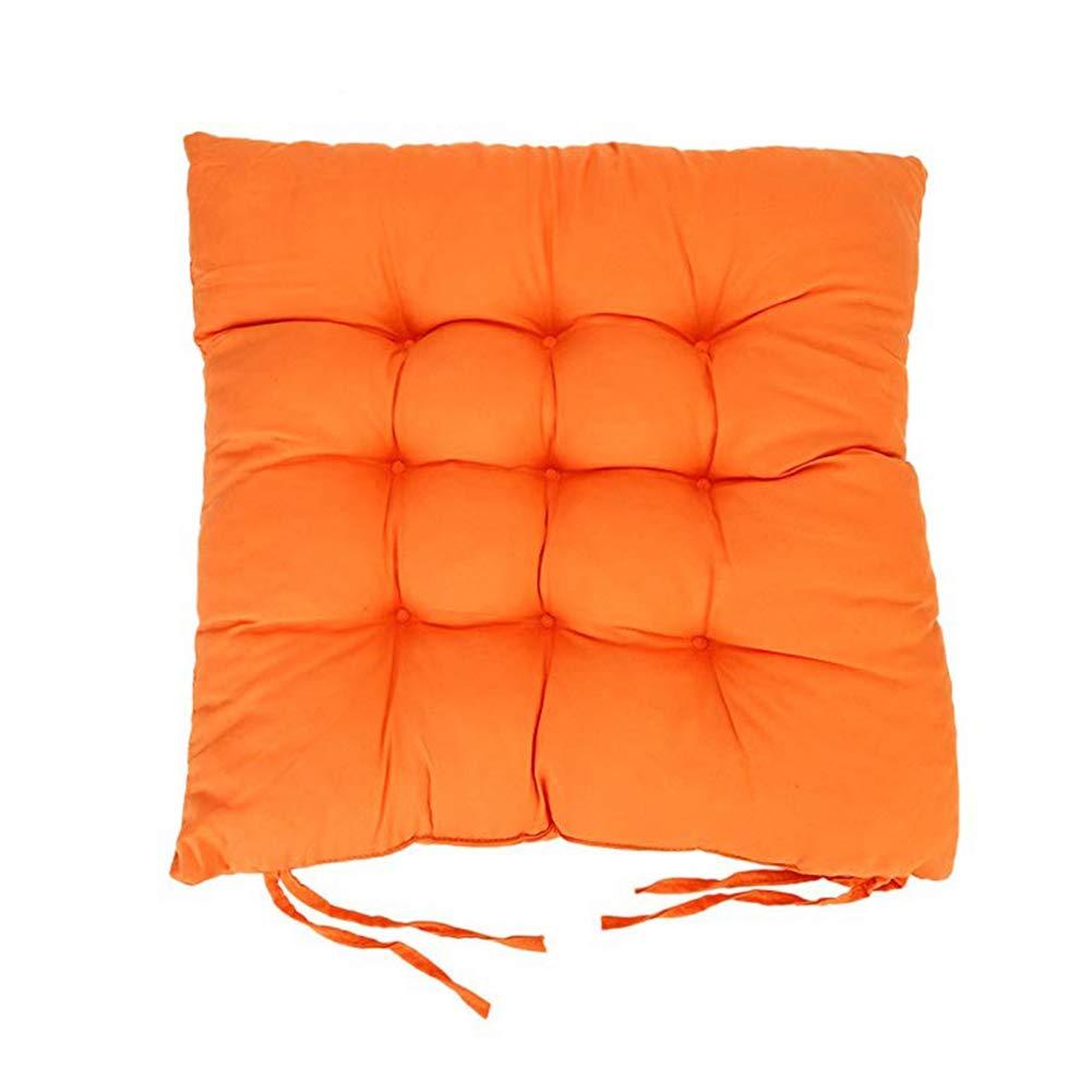 40 HANDAN Cojines de Asiento Coj/ín para Silla Coj/ín Amortiguador para Sillas Comedor Antideslizante Al Aire Libre Jard/ín Muebles Decoraci/ón Naranja 40cm
