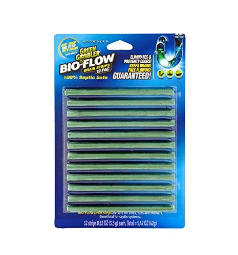 Green Gobbler BIO-FLOW Drain Strips - (Drain Cleaner & Deodorizer) - 4 Packs of 12 each by Green Gobbler (Image #1)