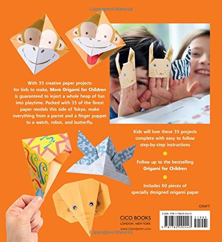More Origami For Children 35 Fun Paper Projects To Fold In An