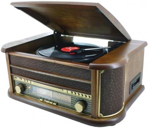Soundmaster NR 513 - Tocadiscos (50 W, 230 V, Marrón): Amazon.es ...