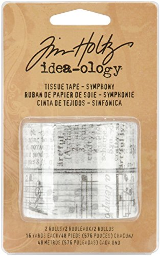 by Tim Holtz Idea-ology, 2 Rolls per Pack, 3/4 Inches x 16 Yards, Paper, Multicolored, TH92829 ()