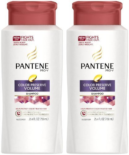 Pantene Pro-V Colored Hair Color Preserve Volume Shampoo - 25.4 oz - 2 pk (Best Shampoo For Colored Hair And Volume)
