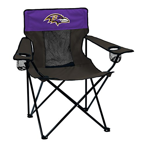 Logo Brands NFL Baltimore Ravens Folding Elite Chair with Mesh Back and Carry Bag ,  Purple,  One Size