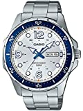 Casio #MTD100D-7A2V Men's Enticer Sports Stainless Steel Day Date Silver Dial Watch