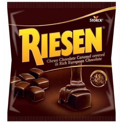- Riesen, Chewy Chocolate Caramel Covered in Rich European Chocolate, 9oz Bag (Pack of 6) by Riesen