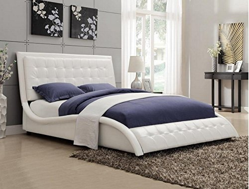 Coaster Home Furnishings 300372Q Transitional Bed, Queen, White - bedroomdesign.us