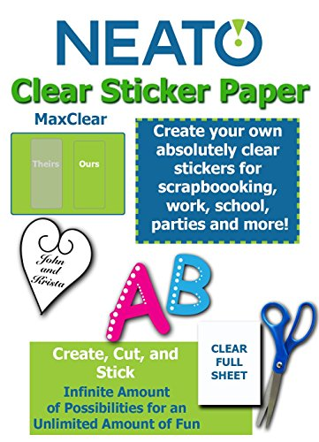 Adhesive Backed Laser Film - Printable Transparent Sticker Paper - 8.5