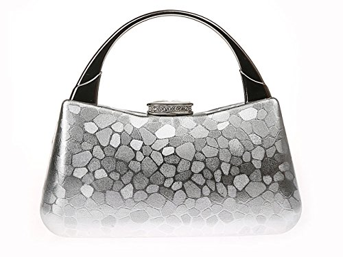 Party Handbags Bag Clutch Removable Wedding with Ladies Silver Chain Evening Flower Ankoee Bag Womens xFZRY4cq
