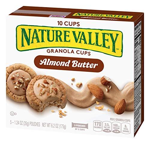 Peak Edition Nature Valley Granola Cups, Almond Butter, 6.2 oz. (5 Pouches) (Nature Valley Peak Edition Almond Butter Granola Cups)