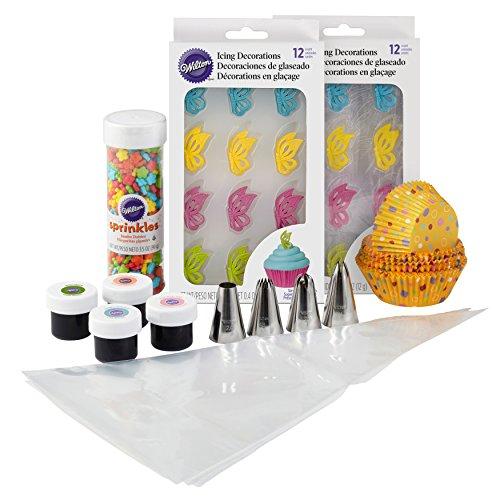 (Wilton Butterflies Cupcake Decorating Kit, Cupcake Decorating Supplies)